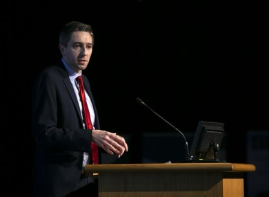 Simon Harris at a launch earlier this month.