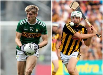 Kerry's Killian Spillane (Templenoe) and Kilkenny's Padraig Walsh (Tullaroan) will be in All-Ireland club action.