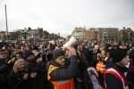 Protesters march through Dublin city in a housing protest against homelessness from Parnell Square to the Dáil.