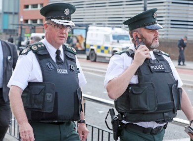 PSNI Chief Constable Simon Byrne (left) has expressed concerns about the 'stretched' force ahead of Brexit