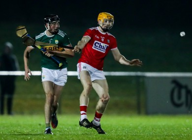 Cork's Billy Hennessy in action against Kerry's Shane Nolan.