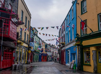 The main street in Galway.