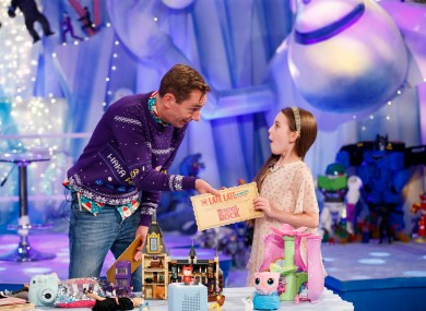 Sophie Barnes Aabo, aged 9 and from Co Cork, appears on the Late Late Toy Show with Ryan Tubridy.