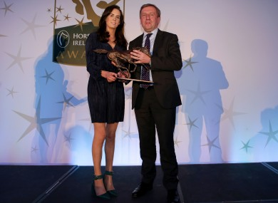 Minister Michael Creed and Rachael Blackmore at the Horse Racing Ireland awards this week.