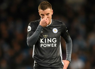 Jamie Vardy has been in outstanding scoring form this season for Leicester City.