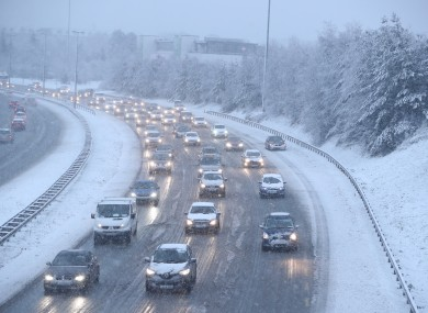 Snowy weather on the N7 in Dublin earlier this year.