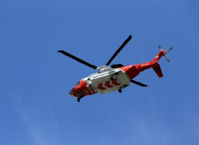 An Irish Coast Guard rescue helicopter will assist the search.