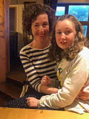 Meabh Quoirin and her daughter Nóra