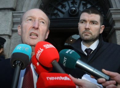 Minister Shane Ross with Junior Minister Brendan Griffin yesterday.