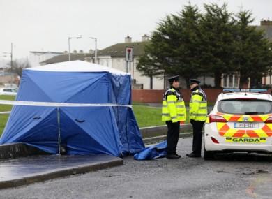 Gardaí at the scene in Coolock.