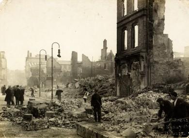 The Burning of Cork. NLI ref: HOGW 153