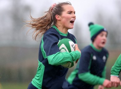 Aoife Doyle in training earlier this month.