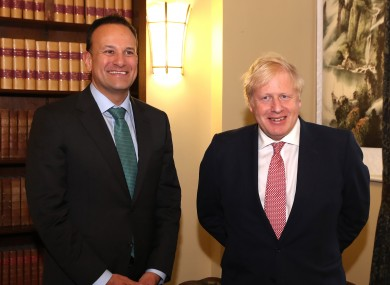 The Taoiseach and Prime Minister Johnson in Belfast today.
