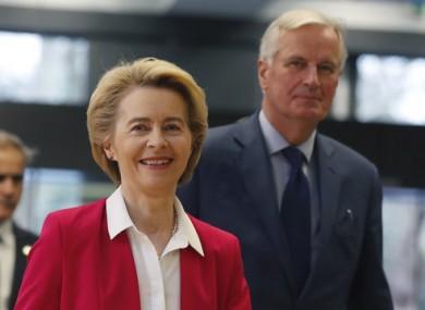 Ursula Von der Leyen arrives at the London School of Economics.