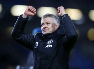 Man United boss Ole Gunnar Solskjaer.