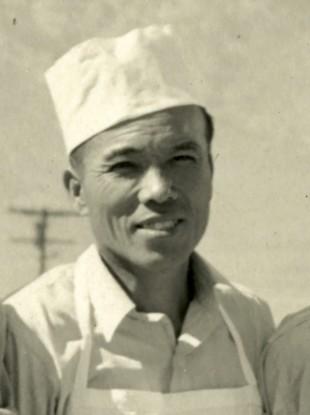 Giichi Matsumura during his incarceration at an internment camp.