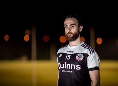 Laverty pictured at Kilcoo's press conference this evening.