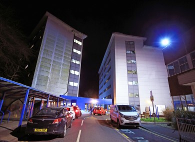 The accommodation at Arrowe Park Hospital in Merseyside which is understood to be where the Irish and British nationals from the coronavirus-hit city of Wuhan in China are quarantined.
