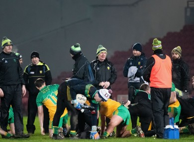 Donegal players after their McKenna Cup win over Derry during the week.
