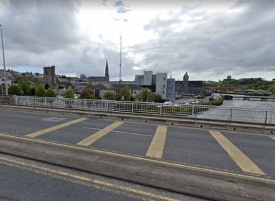 A view of Drogheda Garda Station from the Bridge of Peace.