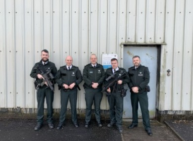 PSNI Chief Constable posed with armed officers on Christmas Day in Crossmaglen.