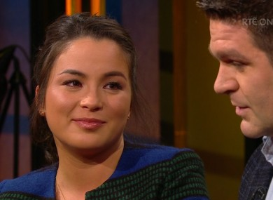 Lanlih and Billy Holland on the Late Late Show last night.