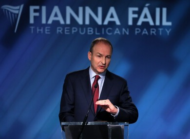 Fianna  Fáil launched their campaign today in Dublin.