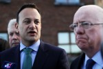 Leo Varadkar and Minister for Justice Charlie Flanagan speaking to the media yesterday.