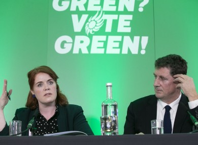 Green Party Finance spokesperson Neasa Hourigan and leader Eamon Ryan
