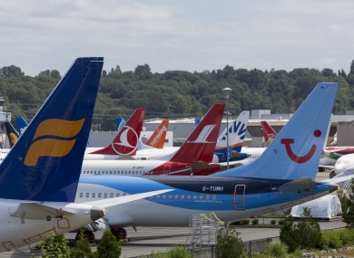 Dozens of undelivered 737 MAX airplanes in Seattle, Washington