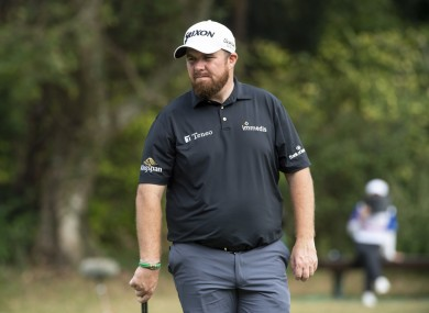 Shane Lowry in action during the second round of the Hong Kong Open.