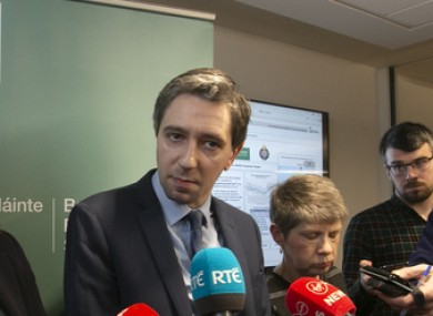 Health Simon Harris says women who had miscarried were confronted by protesters yesterday.