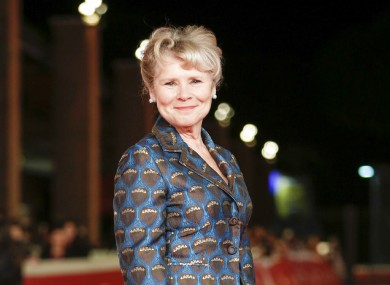 Imelda Staunton on the red carpet for the premiere of movie Downton Abbey.