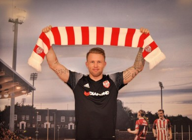 Nilsen pictured at the Brandywell today.