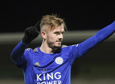 Leicester City star James Maddison.