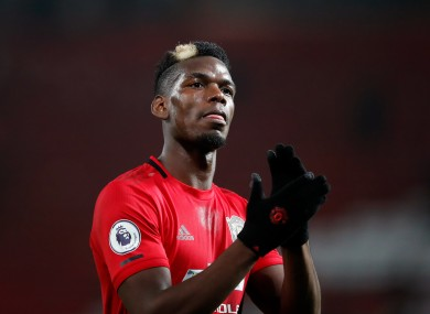 Pogba: played twice over the festive period.