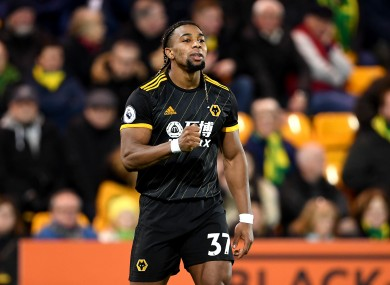 Adama Traore during a Premier League game with Norwich at Carrow Road last month.