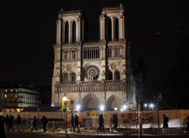 Notre Dame cathedral was badly damaged in a fire last April