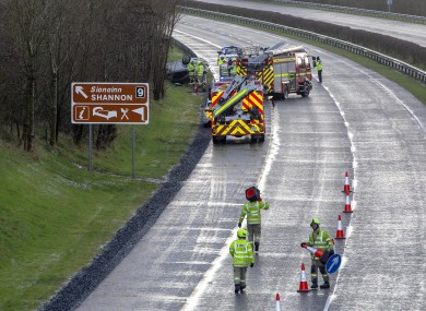 One of the crashes that took place this afternoon.