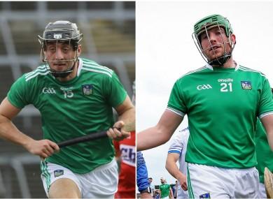 Injury battles for Limerick forwards Pat Ryan and Shane Dowling.