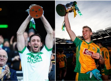 Michael Fennelly and Kieran Fitzgerald celebrating last year's All-Ireland club final wins.
