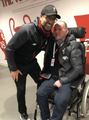 Jurgen Klopp with Seán in November last year.