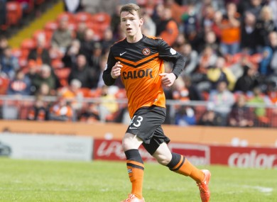 Ali Coote in Scottish Premiership action for his first professional club, Dundee United.