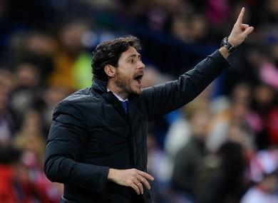 Former Malaga head coach Victor Sanchez del Amo.