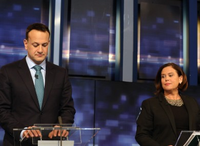 Varadkar and McDonald clashed at the debate on Tuesday night.