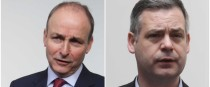 Both Micheál Martin and Pearse Doherty spoke to reporters today.