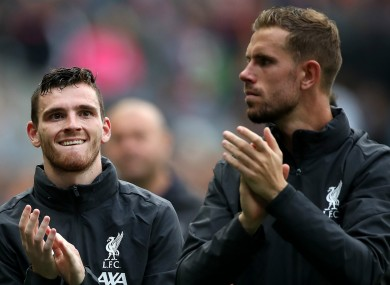 Andy Robertson feels Jordan Henderson deserves the Player of the Year award.