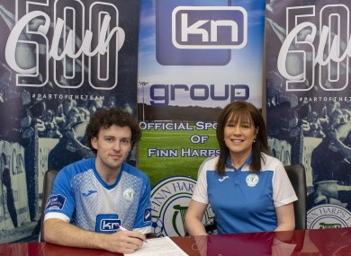 New signing: Barry McNamee.