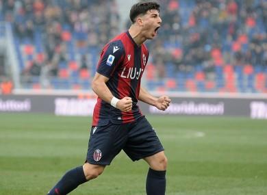 Bologna attacker Riccardo Orsolini.