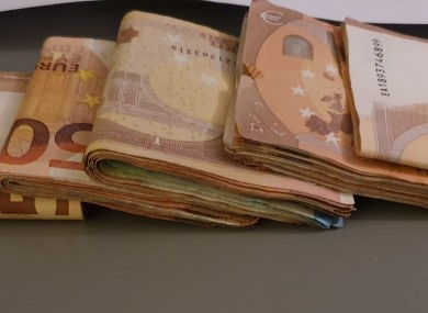 Some of the cash seized yesterday.